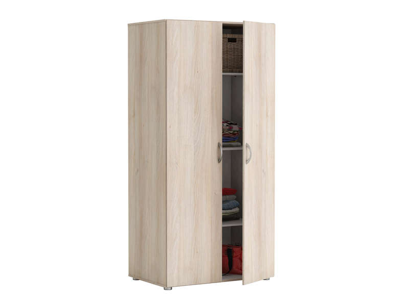 armoire 2 portes zippie 2 coloris acacia vente de. Black Bedroom Furniture Sets. Home Design Ideas