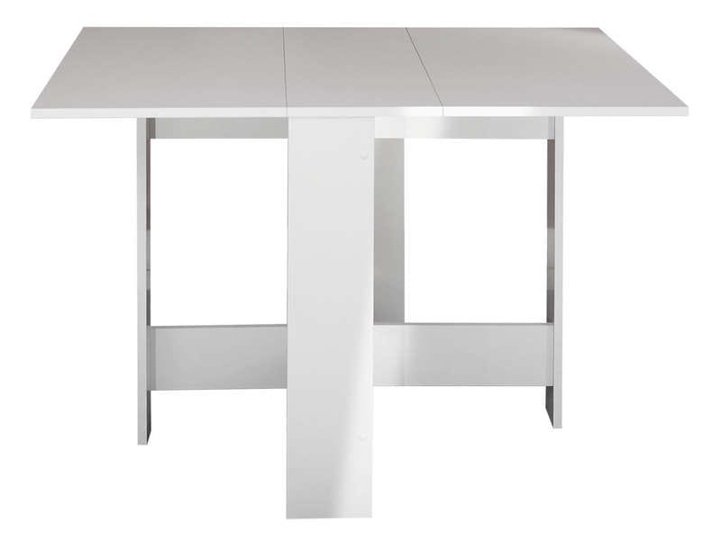 Table de cuisine pliante sishui coloris blanc vente de for Table de salle a manger pliante