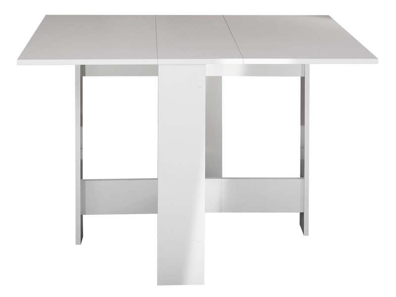 Table pliante l max 103 cm sishui coloris blanc vente for Table cuisine escamotable ou rabattable