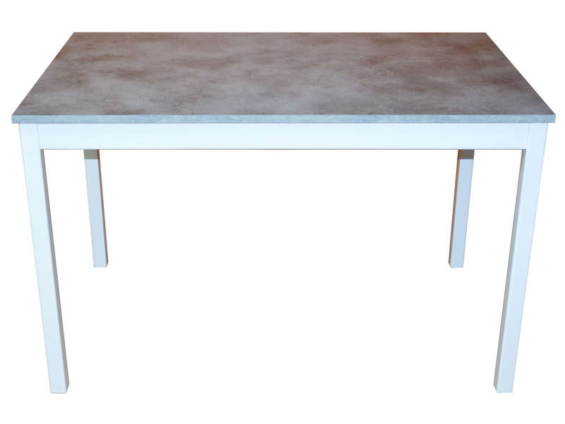 Table bicolore 120 cm fixe copperfield vente de table for Table cuisine rallonge