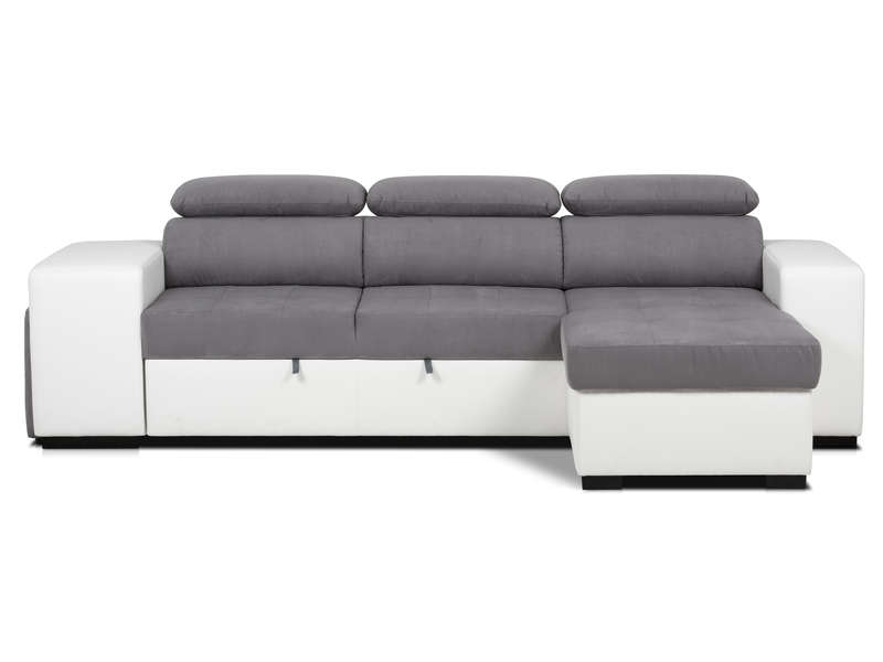 canap dangle convertible rversible 4 places 2 poufs - Canape Gris Convertible
