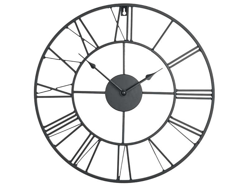 Horloge 80 cm clem coloris noir vente de horloge conforama for Horloge originale salon