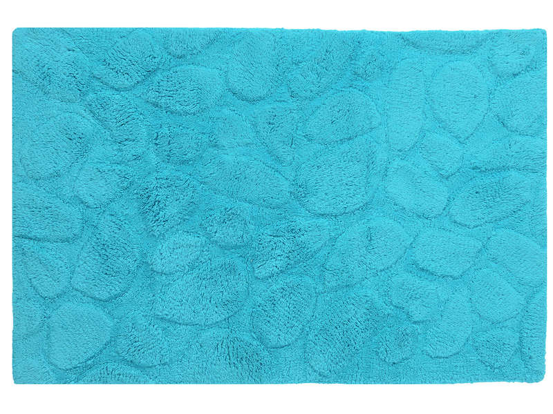 tapis de salle de bain 60x90 cm galets coloris turquoise vente de tapis de bain conforama. Black Bedroom Furniture Sets. Home Design Ideas