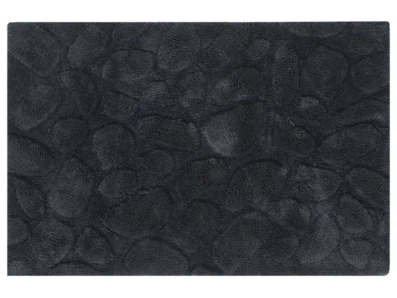 tapis de salle de bain 60x90 cm galets coloris anthracite pas cher avis et prix en promo. Black Bedroom Furniture Sets. Home Design Ideas