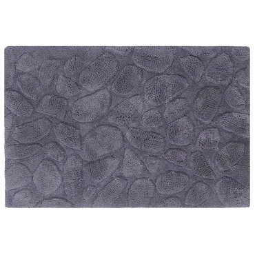 tapis de salle de bain 60x90 cm galets coloris gris vente de tapis de bain conforama. Black Bedroom Furniture Sets. Home Design Ideas
