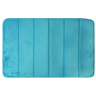 tapis de salle de bain 50x80 cm confort coloris turquoise vente de tapis de bain conforama. Black Bedroom Furniture Sets. Home Design Ideas