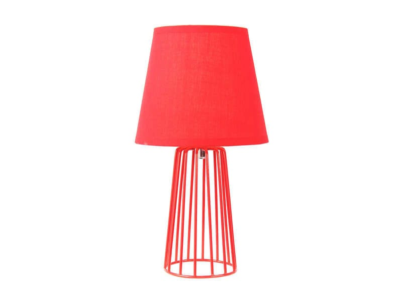 lampe poser 30 cm cagy coloris rouge chez conforama. Black Bedroom Furniture Sets. Home Design Ideas