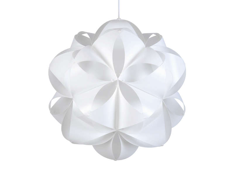 Suspension plastique nid d 39 abeilles coloris blanc vente de luminaire enfant conforama for Luminaire multi suspension colore enfant