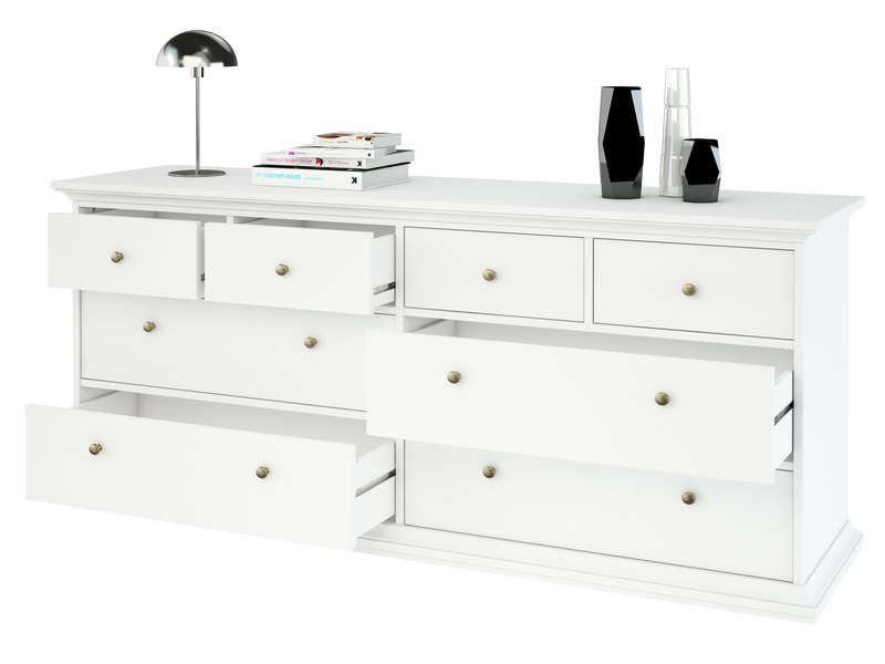 commode harlington coloris blanc vente de commode conforama. Black Bedroom Furniture Sets. Home Design Ideas