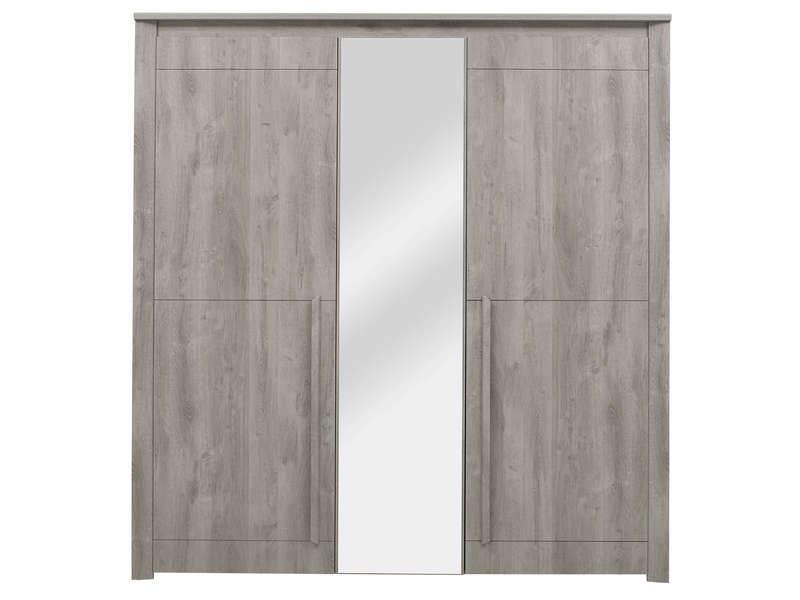 armoire portes battantes eden coloris chne gris vente de armoire conforama with paillasson conforama