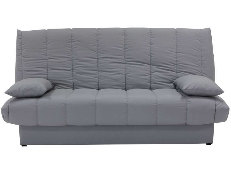 banquette clic clac en tissu mama coloris gris vente de banquette clic clac conforama. Black Bedroom Furniture Sets. Home Design Ideas