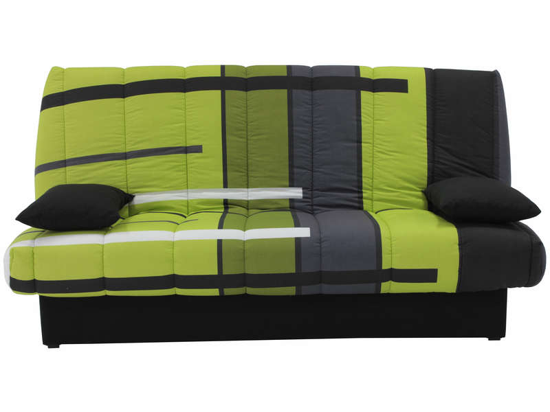 banquette clic clac en tissu mama motif vert vente de. Black Bedroom Furniture Sets. Home Design Ideas