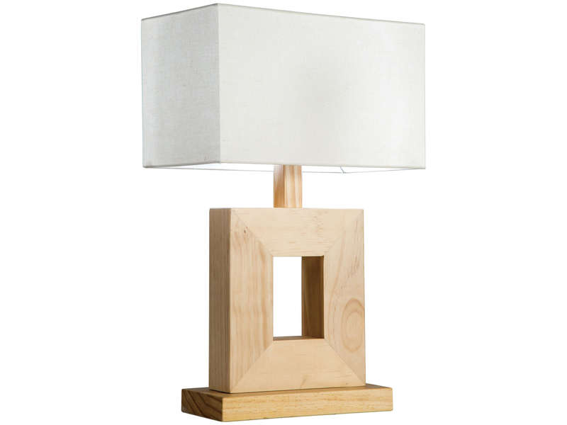 lampe poser woody coloris bois blanc vente de lampe. Black Bedroom Furniture Sets. Home Design Ideas
