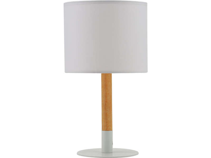 lampe en m tal et bois alba coloris blanc vente de lampe conforama. Black Bedroom Furniture Sets. Home Design Ideas