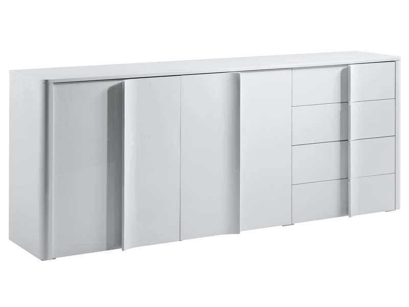 Buffet 3 portes 1 tiroir warren silex conforama buffet for Miroir warren silex