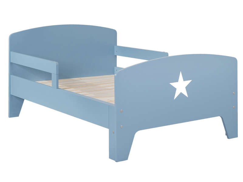 lit volutif 90x140 170 200 cm star coloris bleu vente de lit enfant conforama. Black Bedroom Furniture Sets. Home Design Ideas