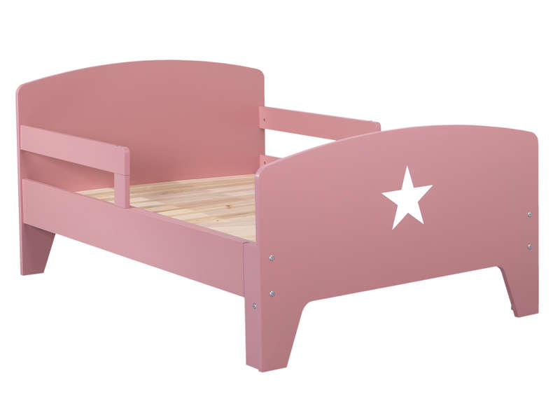 lit volutif 90x140 170 200 cm star coloris rose vente de lit enfant conforama. Black Bedroom Furniture Sets. Home Design Ideas