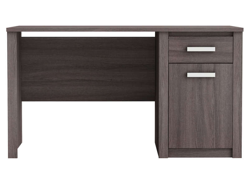 bureau 1 porte 1 tiroir sherwood coloris ch ne vulcano. Black Bedroom Furniture Sets. Home Design Ideas
