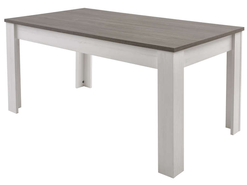 Table Rectangulaire Avec Allonge 230 Cm Max Duke Coloris Pin Blanchi