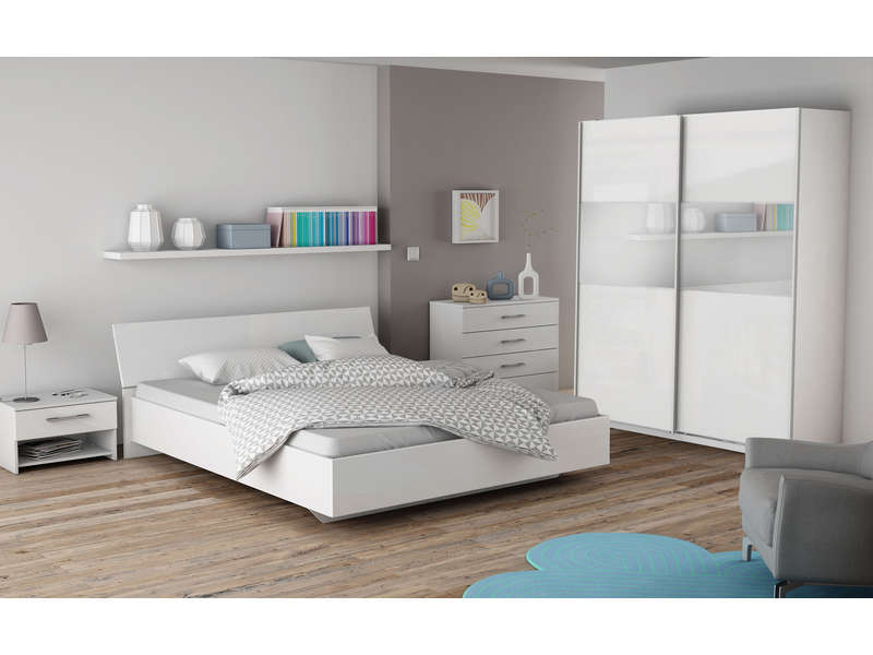 Armoire pour chambre adulte 4 portes 2 miroirs en pin for Photo de chambre adulte