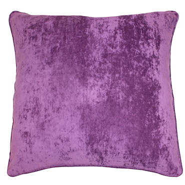 coussin 60x60 cm velours coloris violet. Black Bedroom Furniture Sets. Home Design Ideas