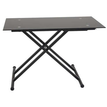 Table basse relevable en verre lift coloris noir vente for Conforama table basse relevable