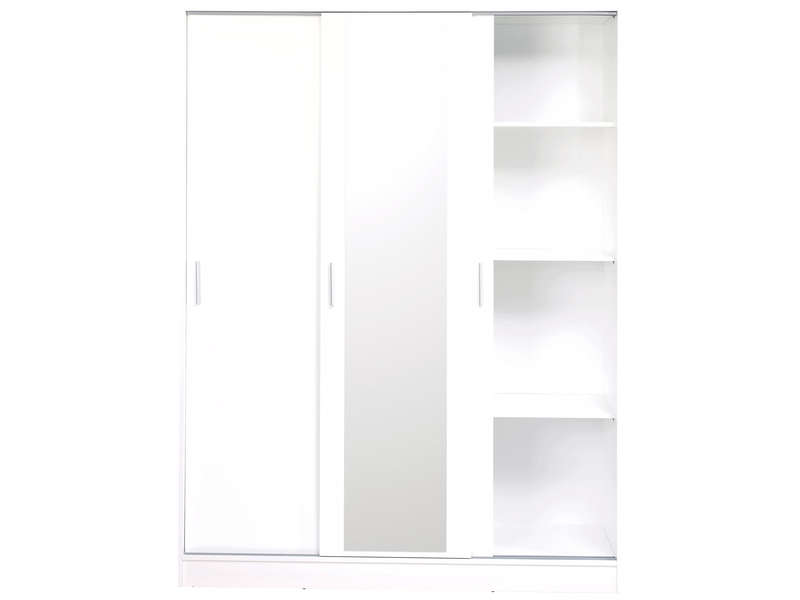 armoire 3 portes focus coloris blanc vente de armoire conforama. Black Bedroom Furniture Sets. Home Design Ideas