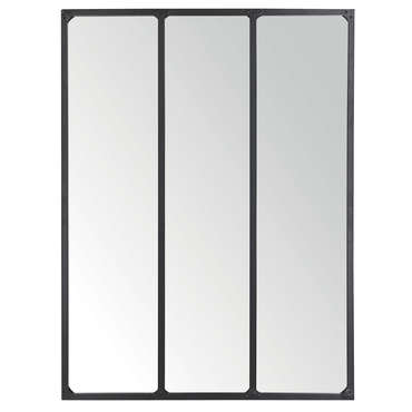 Miroir 90x120 cm m tal vente de miroir mural conforama for Decoration a coller sur porte
