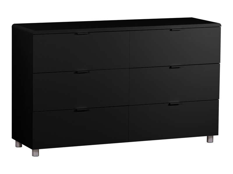 commode 6 tiroirs easy 3 coloris noir vente de commode conforama. Black Bedroom Furniture Sets. Home Design Ideas