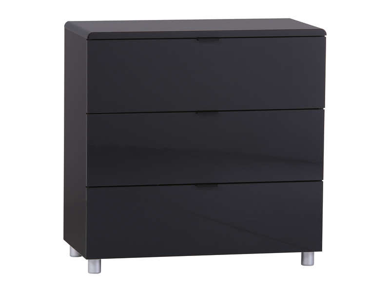 commode 3 tiroirs easy 3 coloris noir vente de commode conforama. Black Bedroom Furniture Sets. Home Design Ideas