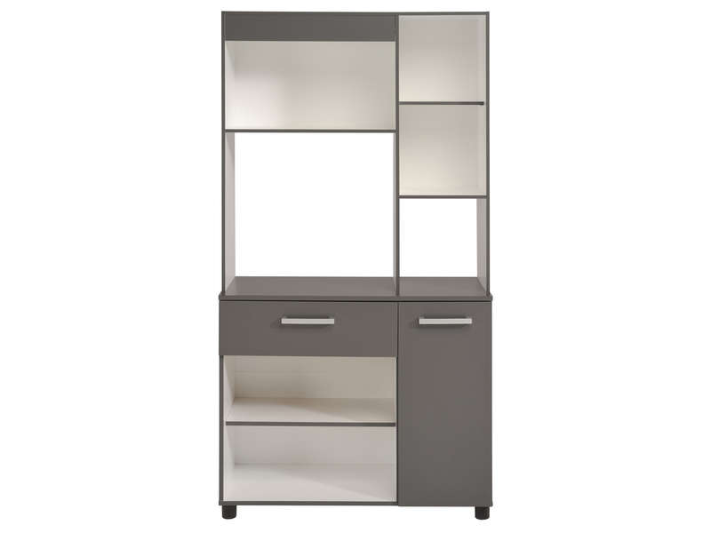 buffet de cuisine open coloris gris vente de buffet de. Black Bedroom Furniture Sets. Home Design Ideas