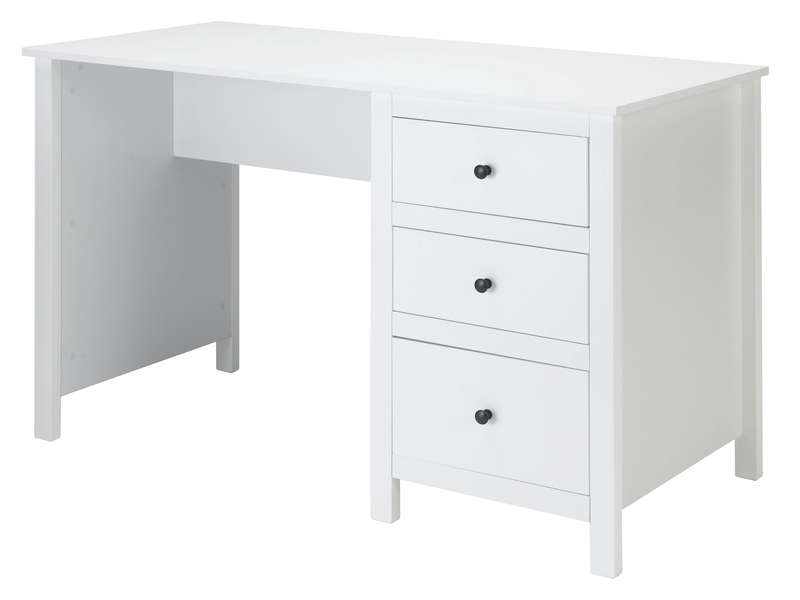 bureau 120 cm lou coloris blanc vente de bureau conforama. Black Bedroom Furniture Sets. Home Design Ideas