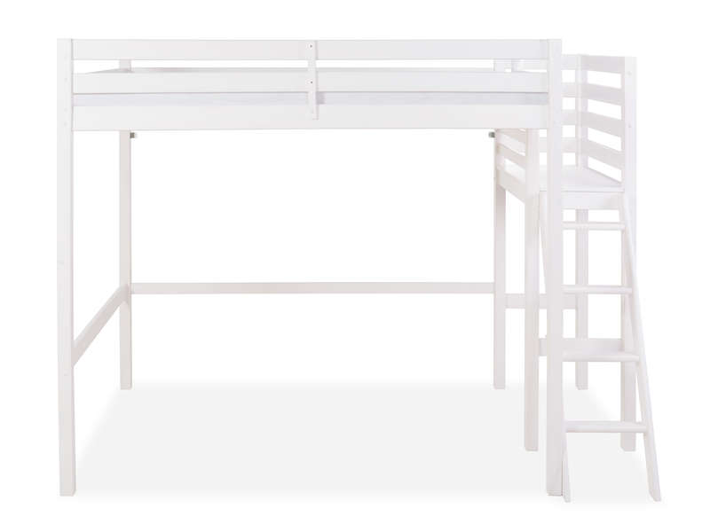 lit mezzanine 140x200 cm melody coloris blanc vente de. Black Bedroom Furniture Sets. Home Design Ideas