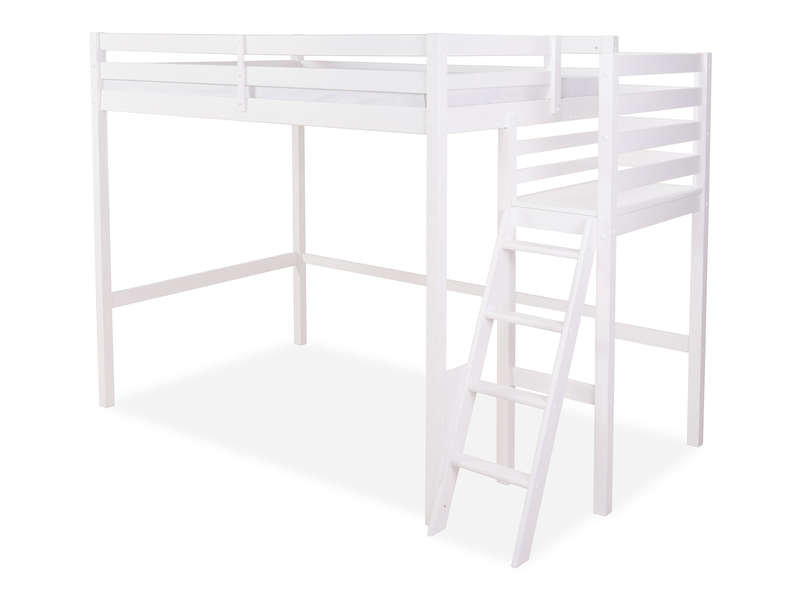 lit mezzanine 140x200 cm melody coloris blanc vente de lit enfant conforama. Black Bedroom Furniture Sets. Home Design Ideas