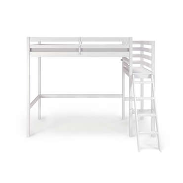 lit mezzanine 90x190 200 cm melody coloris blanc vente. Black Bedroom Furniture Sets. Home Design Ideas