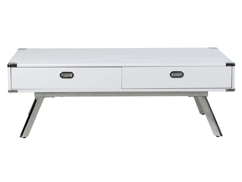 Table basse WILSON coloris blanc - Vente de Table basse - Conforama b7caaea25e1a