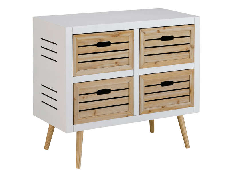chiffonnier dune coloris blanc vente de commode enfant conforama. Black Bedroom Furniture Sets. Home Design Ideas