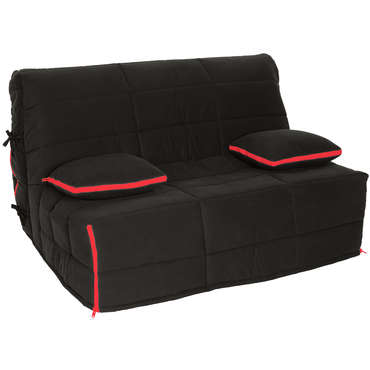 housse pour bz 160 cm zip coloris noir rouge vente de. Black Bedroom Furniture Sets. Home Design Ideas