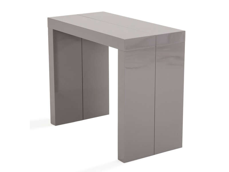 console extensible l315 cm max molto coloris gris chez. Black Bedroom Furniture Sets. Home Design Ideas
