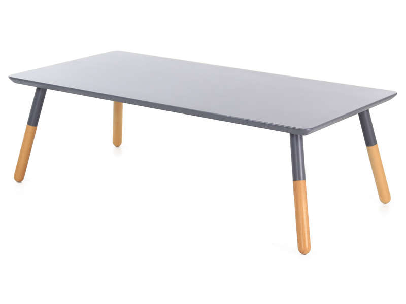 Table basse kapa coloris gris bois vente de table basse for Table sejour conforama