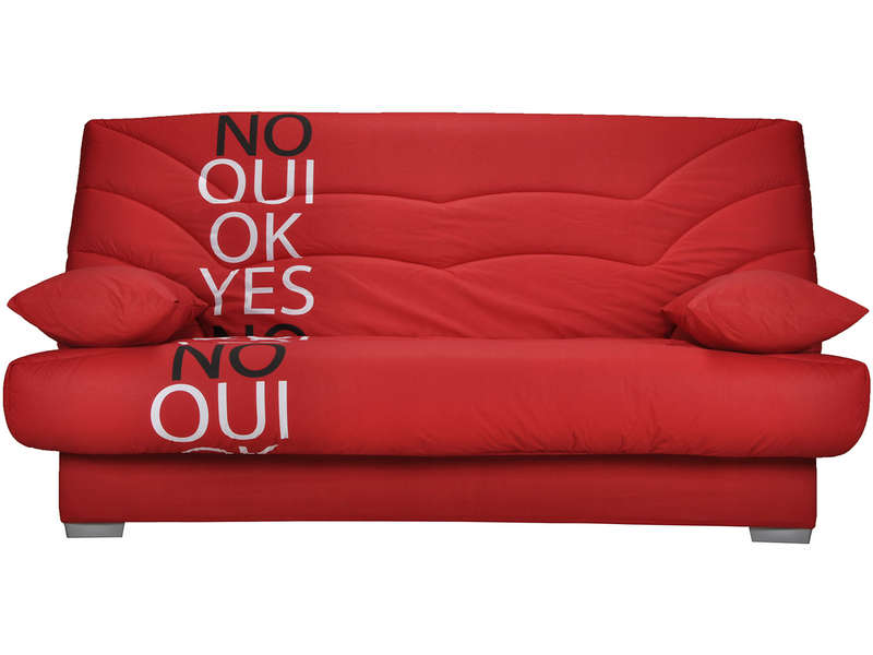 housse pour clic clac prima yes no coloris rouge vente de housse de banquette conforama. Black Bedroom Furniture Sets. Home Design Ideas