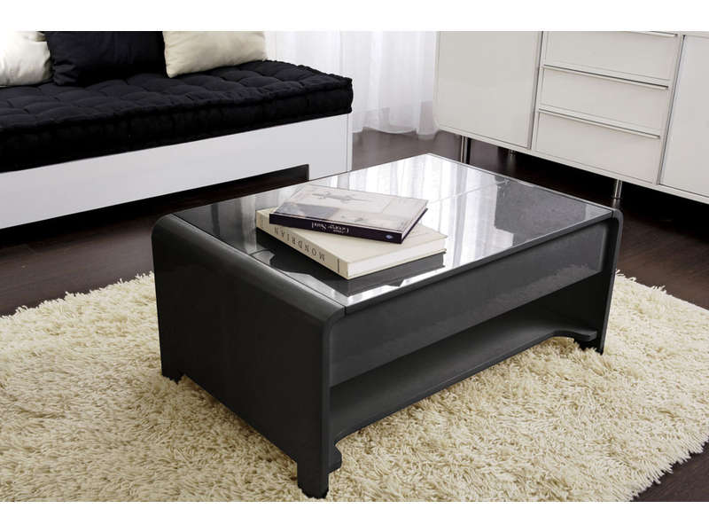table basse rectangulaire avec plateau relevable duna. Black Bedroom Furniture Sets. Home Design Ideas