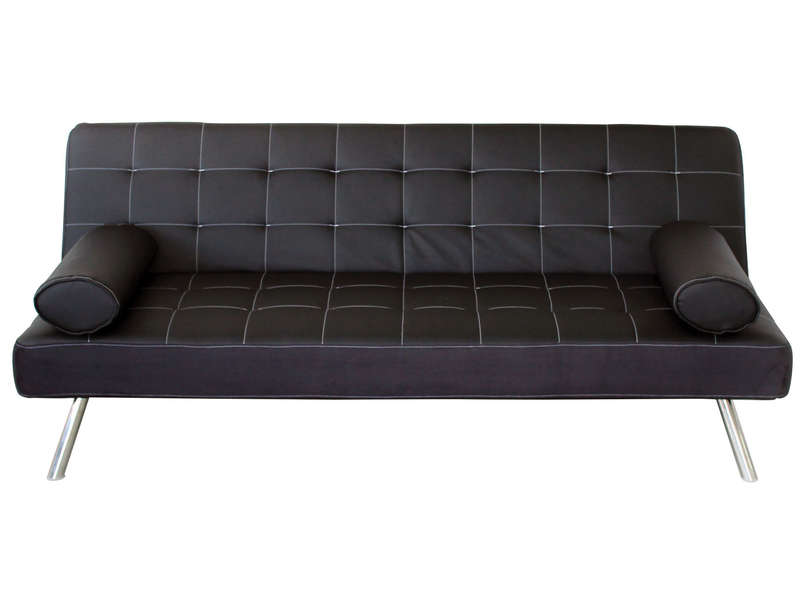 banquette clic clac joy coloris noir en pu vente de. Black Bedroom Furniture Sets. Home Design Ideas
