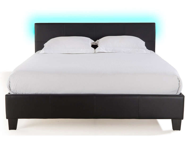 lit adulte 160x200 cm avec led bloom light vente de lit adulte conforama. Black Bedroom Furniture Sets. Home Design Ideas