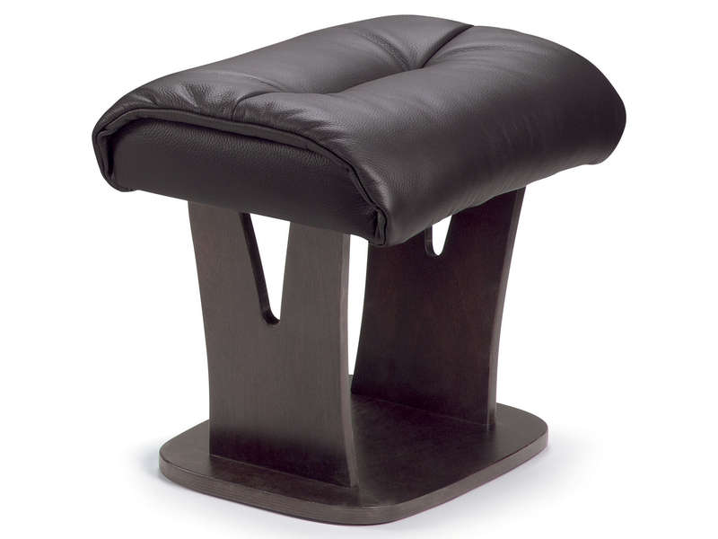 repose pied 100 cuir colorado coloris chocolat vente de pouf conforama. Black Bedroom Furniture Sets. Home Design Ideas