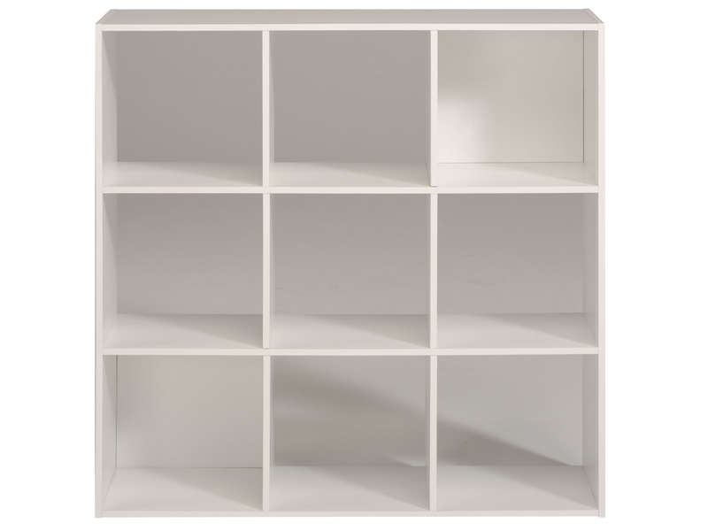 Biblioth que 9 cases kubikub coloris blanc vente de for Meuble 9 cases leclerc