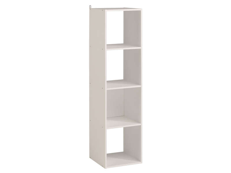 biblioth que 4 cases kubikub coloris blanc vente de biblioth que conforama. Black Bedroom Furniture Sets. Home Design Ideas