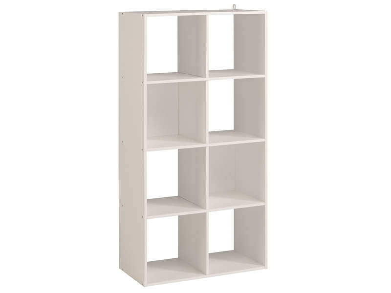 biblioth que 8 cases kubikub coloris blanc vente de biblioth que conforama. Black Bedroom Furniture Sets. Home Design Ideas