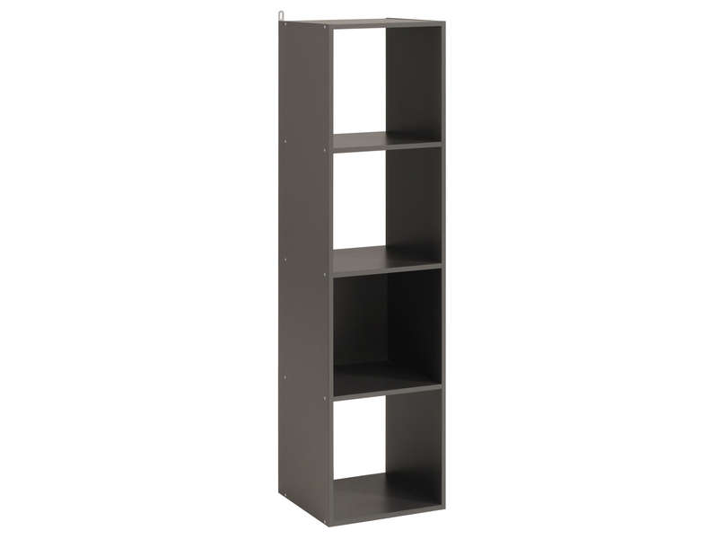 Biblioth que 4 cases kubikub coloris gris vente de biblioth que conforama - Bibliotheque 6 cases ...