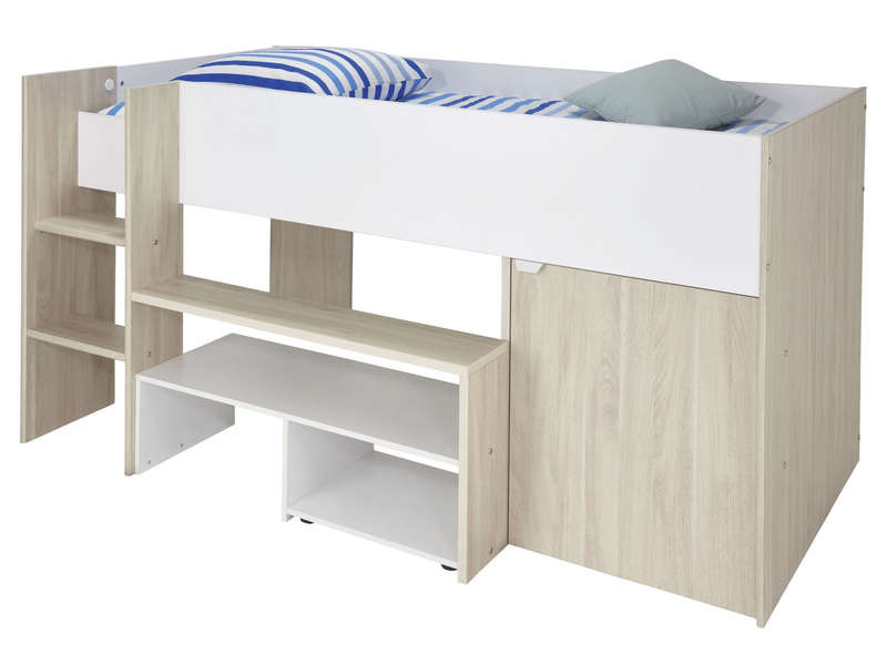 lit combin 90x200 cm discovery vente de lit enfant conforama. Black Bedroom Furniture Sets. Home Design Ideas
